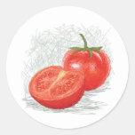 tomato round sticker