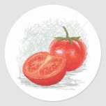 tomato round stickers