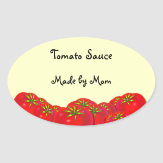 Tomato Sauce Custom Canning Labels Oval Sticker