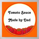 Tomato Sauce Custom Label Art Print