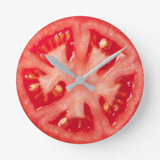 Tomato Slice Round Clock