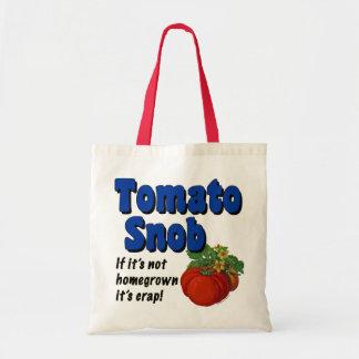 Tomato Snob Funny Saying Tote Bag