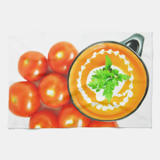 Tomato soup tea towel
