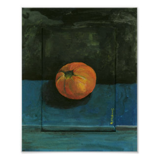 Tomato Still Life Painting Poster