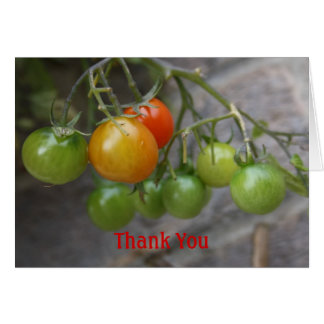 Tomato  Thank You Card