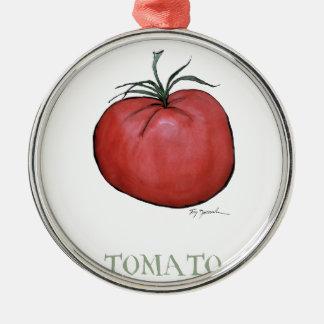tomato, tony fernandes Silver-Colored round decoration