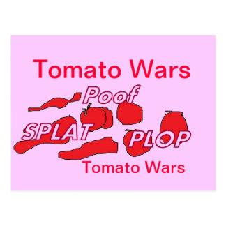 Tomato Wars Humor Card Post Cards