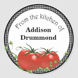 Tomatoe canning labels round sticker