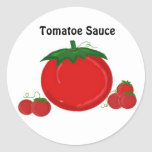 Tomatoe Sauce Round Stickers