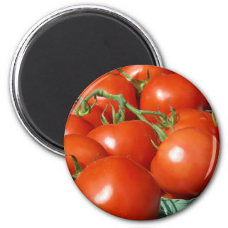 Tomatoes 6 Cm Round Magnet