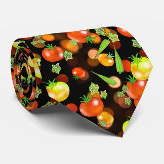 Tomatoes and okra veggies neck tie