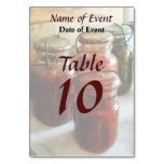 Tomatoes and String Beans in Canning Jars Table Cards