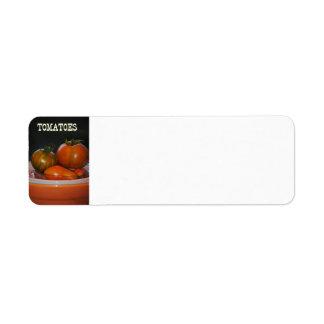 Tomatoes Avery Label Return Address Label