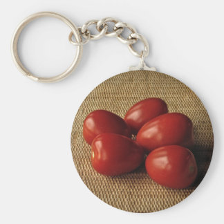Tomatoes Basic Round Button Key Ring