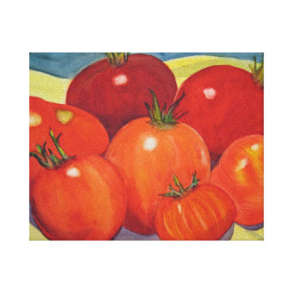 Tomatoes From My Garden Gallery Wrapped Canvas