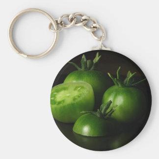 Tomatoes Green Still Life Key Ring