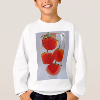 Tomatoes in glass of water sweatshirt