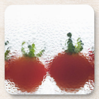 Tomatoes in water coaster