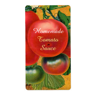 TOMATOES KITCHEN PRESERVES ,CANNINGS ,TOMATO SAUCE SHIPPING LABEL