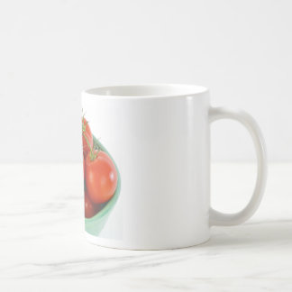 Tomatoes on Vine in Bowl Picture Basic White Mug