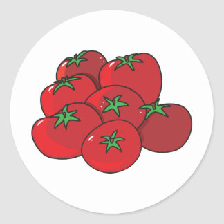 Tomatoes Round Sticker