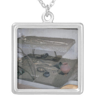 Tomb of a Gaulish chief and his chariot driver Silver Plated Necklace