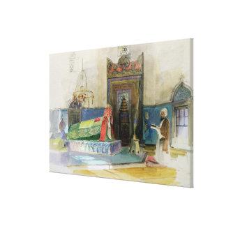 Tomb of Bayazid I, Bursa, Turkey (w/c on paper) Canvas Print