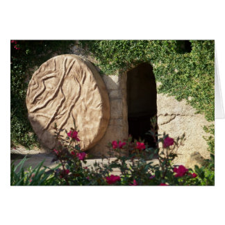 Tomb of Christ Risen Jesus Christian Notecard Art
