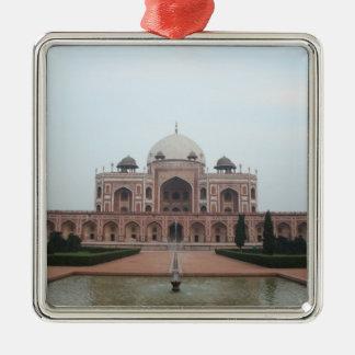 Tomb of Humayun Delhi India Silver-Colored Square Decoration