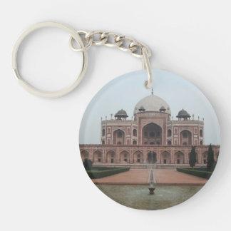 Tomb of Humayun Delhi India Double-Sided Round Acrylic Key Ring