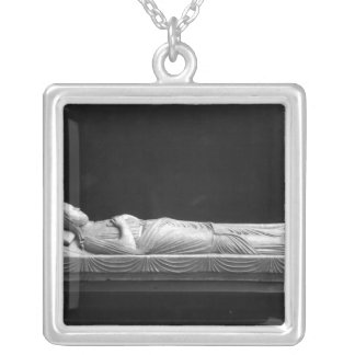 Tomb of Isabel of Angouleme Silver Plated Necklace