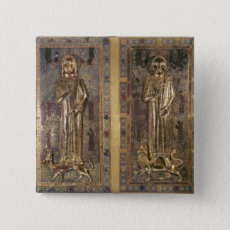 Tomb of Jean  and Blanche  of France 15 Cm Square Badge