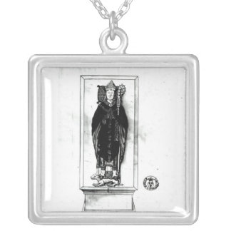 Tomb of Pierre Cauchon Silver Plated Necklace