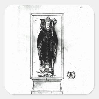 Tomb of Pierre Cauchon Square Sticker