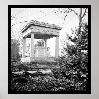 Tomb of President James Polk in Nashville, TN 1864 Poster