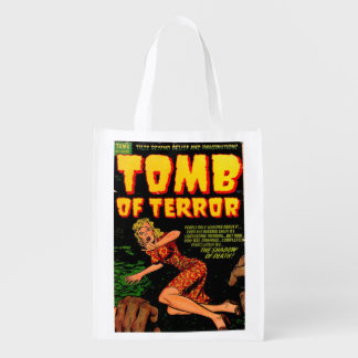 Tomb of Terror the Shadow of Death Horror Comic Reusable Grocery Bag