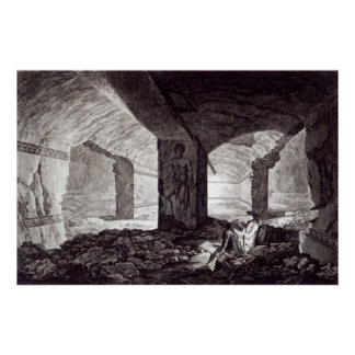 Tomb of the Cardinal at Tarquinia, c.1780 Poster