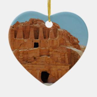 Tomb of the obelisks Petra Ceramic Heart Decoration