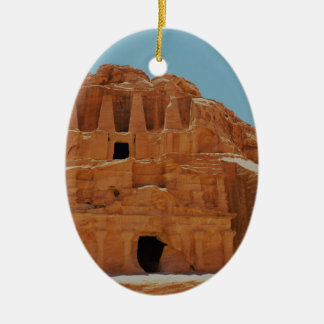 Tomb of the obelisks Petra Christmas Ornament
