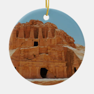 Tomb of the obelisks Petra Round Ceramic Decoration