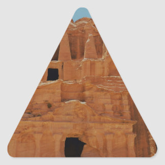 Tomb of the obelisks Petra Triangle Sticker