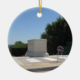 Tomb of the Unknown Soldier Round Ceramic Decoration