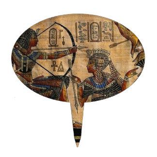 Tomb Painting on Papyrus Cake Picks