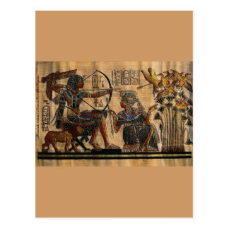 Tomb Painting on Papyrus Postcard