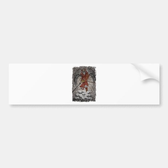 Tomb Stone Scary King Bumper Sticker