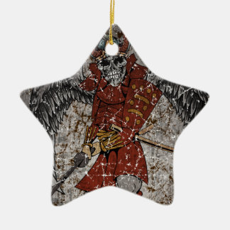 Tomb Stone Scary King Ceramic Star Decoration