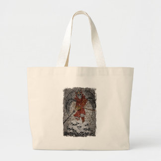 Tomb Stone Scary King Large Tote Bag