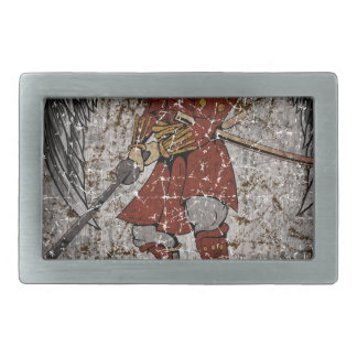Tomb Stone Scary King Rectangular Belt Buckle