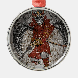 Tomb Stone Scary King Silver-Colored Round Decoration