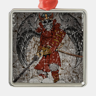 Tomb Stone Scary King Silver-Colored Square Decoration